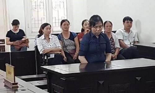 Bị cáo Hằng tại tòa