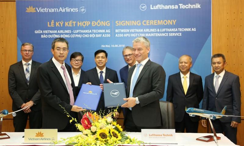 Lufthansa Technik AG sẽ cung cấp dịch vụ bảo dưỡng đội tàu bay A350 của Vietnam Airlines trong vòng 3 năm