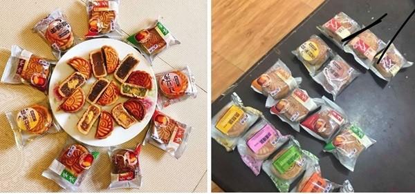 """Loại bánh mini và quảng cáo là """"bánh nội địa Đài Loan"""" được rao bán trên facebook. Ảnh: Diệu Anh"""
