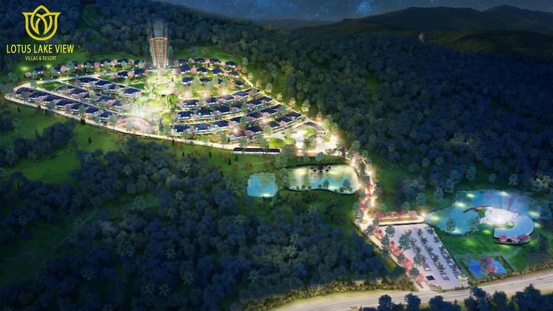 Phối cảnh dự án Lotus Lake View Village được quảng cáo trên trang web của DN