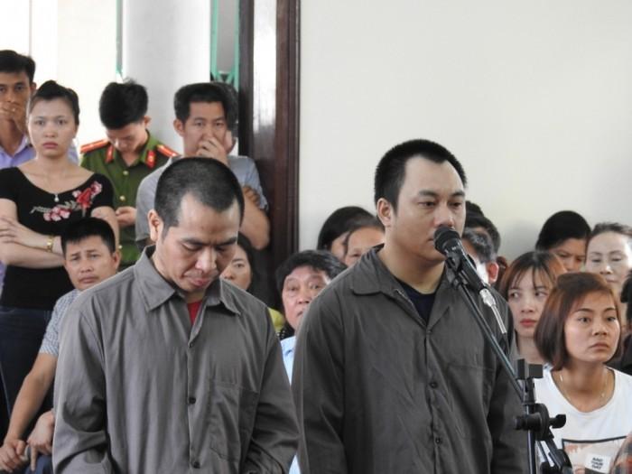 Các bị cáo tại phiên sơ thẩm ngày 10/5
