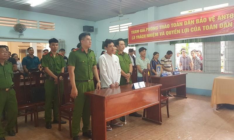 Bị cáo Dương tại phiên tòa