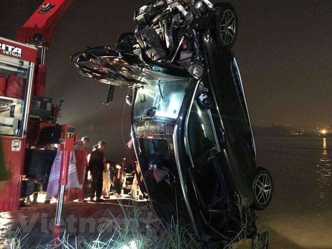 Hiện trường vụ tai nạn thảm khốc tại cầu Chương Dương tối 3/11 vừa qua. (Ảnh: PV/Vietnam+)