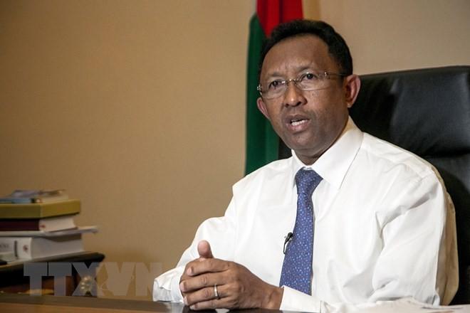 Ứng cử viên Tổng thống Madagascar Hery Rajaonarimampianina. (Nguồn: AFP/TTXVN)