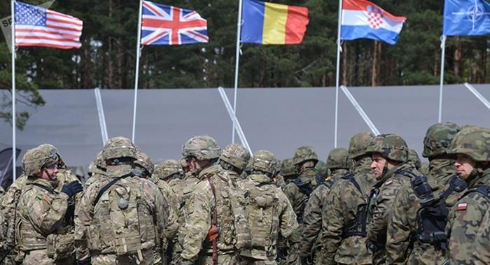 Binh sĩ các nước thành viên NATO tham gia tập trận. Ảnh: Sputnik/CAND