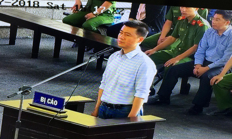Bị cáo Phan Sào Nam tại tòa