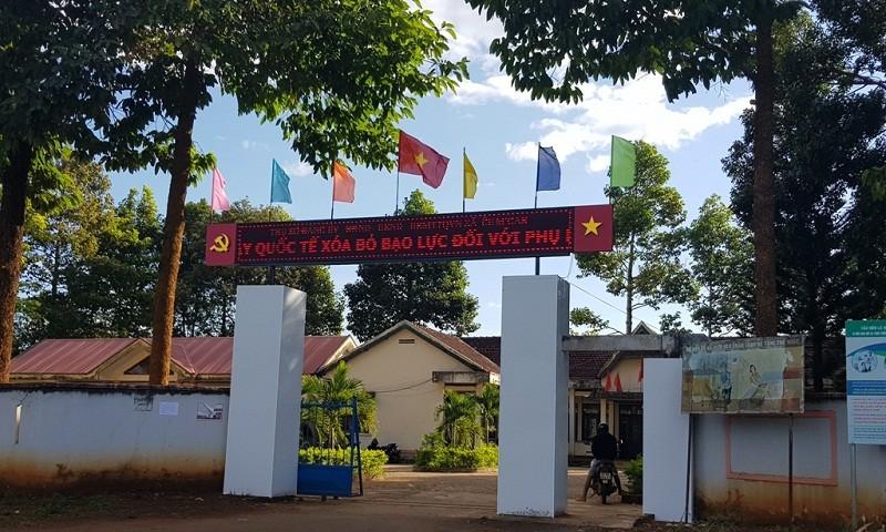 Trụ sở UBND xã Cư M'Gar, nơi bà Phạm Thị Tiềm công tác