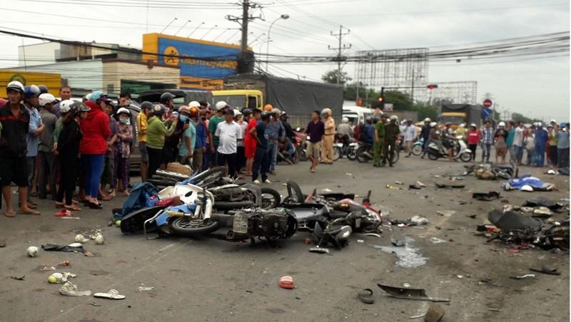 Sau vụ TNGT thảm khốc tại Long An: Sẽ yêu cầu kiểm tra ma túy tất cả tài xế xe tải