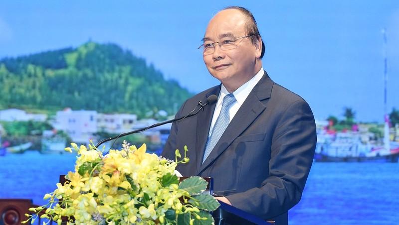 Thủ tướng phát biểu tại Hội nghị phát triển du lịch miền Trung - Tây Nguyên. Ảnh VGP/Quang Hiếu