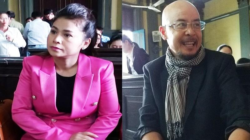 Vợ chồng ông Vũ, bà Thảo tại phiên tòa ngày 25/2