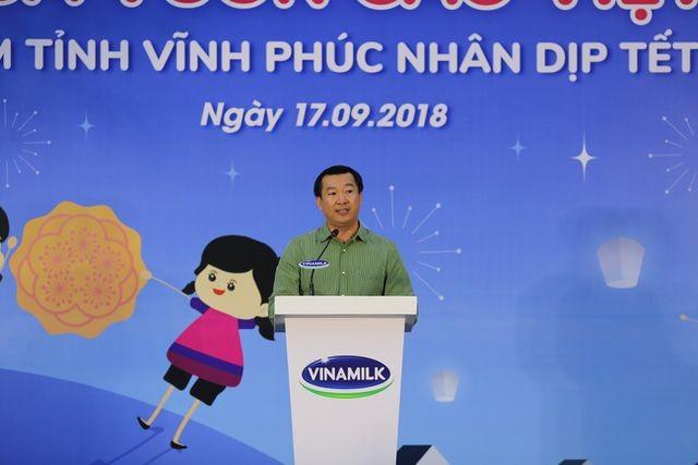 ông Đỗ Thanh Tuấn - Giám đốc Đối Ngoại Vinamilk phát biểu tại sự kiện