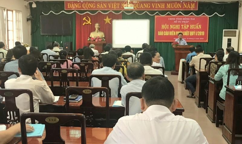 Sở Tư pháp Đồng Nai tổ chức Hội nghị tập huấn báo cáo viên pháp luật quý 1/2019