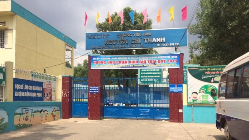 Trường tiểu học Nguyễn Chí Thanh, nơi bà Lạng làm hiệu trưởng và mắc nhiều sai phạm