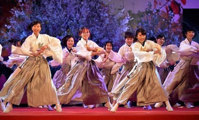 Tiết mục múa đặc sắc của đoàn Nhật Bản chào mừng Lễ hội hoa anh đào 2018