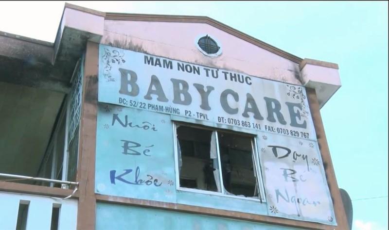 Trường mầm non Baby Care nơi xảy ra vụ cháy. Ảnh VNN