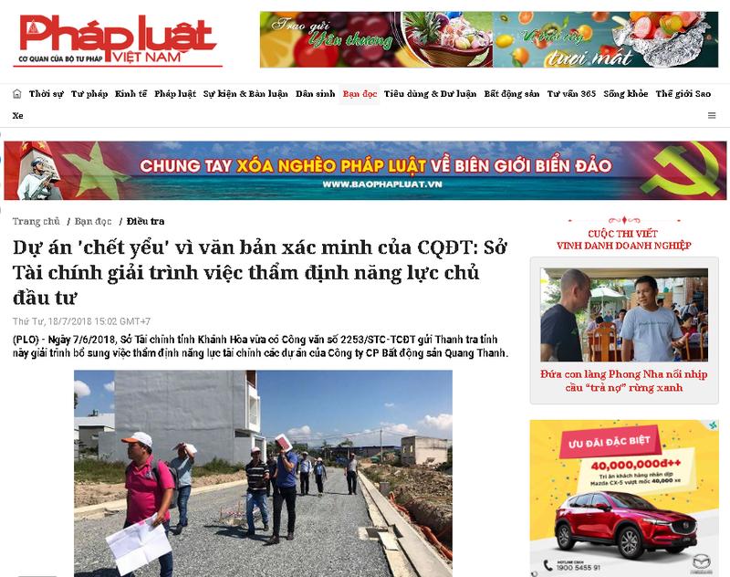 """Vụ """"Dự án chết yểu vì văn bản xác minh của CQĐT ở Khánh Hòa"""": Phải tạo điều kiện tốt nhất cho chủ đầu tư"""