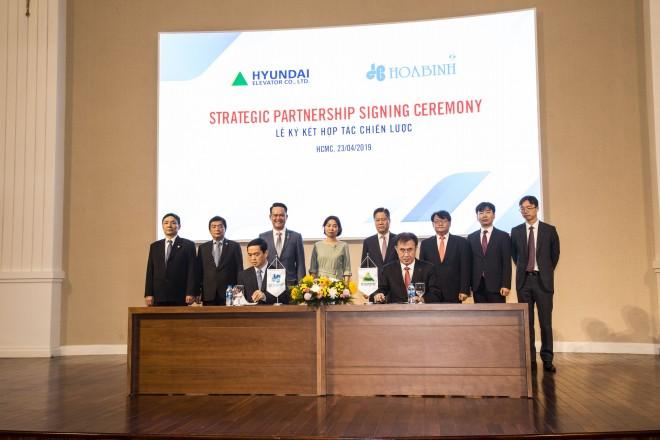 Hòa Bình ký kết thỏa thuận phát hành riêng lẻ và hợp tác chiến lược với Hyundai Elevator - Ảnh 3