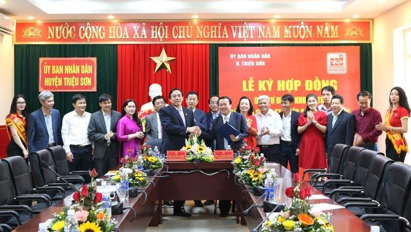 Tập đoàn Sao Mai và UBND huyện Triệu Sơn ký kết hợp đồng đầu tư Dự án khu đô thị Minh Sơn - thị trấn Triệu Sơn, huyện Triệu Sơn, tỉnh Thanh Hóa