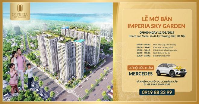 """Dự án Imperia Sky Garden """"gây sốc"""" với chương trình mua nhà tặng Mercedes sang trọng - Ảnh 1"""