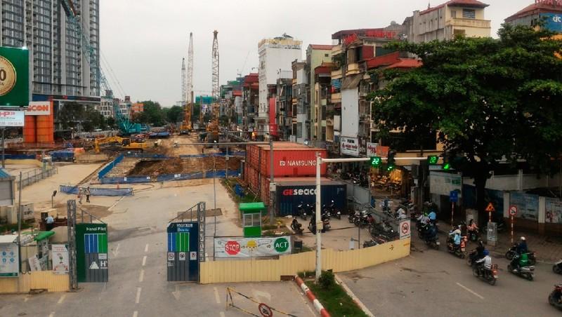 Dự án đường sắt đô thị tại Hà Nội: Thi công sát khu dân cư không đảm bảo phòng cháy chữa cháy