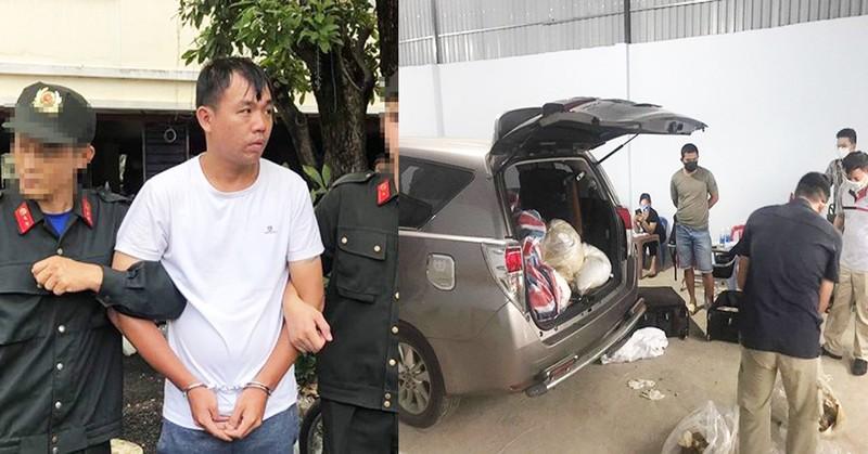 Đối tượng Liu Ming Yang bị bắt giữ cùng tang vật
