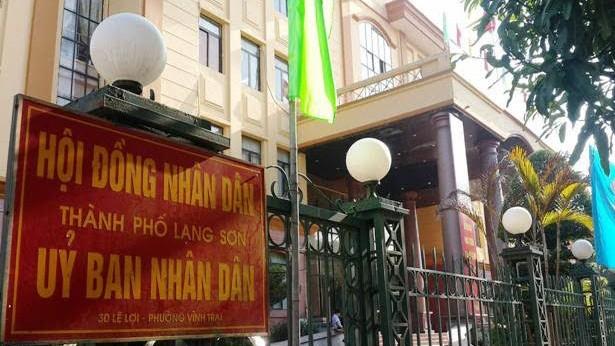 UBND TP Lạng Sơn, nơi bị tố báo cáo thiếu trung thực