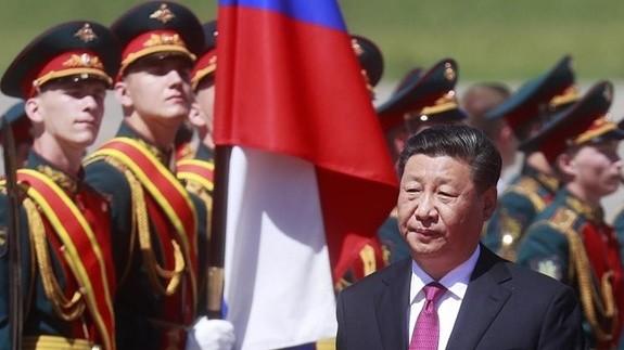 Chủ tịch Trung Quốc Tập Cận Bình thăm Nga. Ảnh: TASS/QĐND