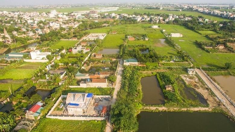 """Nhiều trong số 11 ha đất """"nuôi trồng thủy sản kết hợp trồng cây ăn quả"""" tại xứ Đồng Gạo, thôn Vũ Trường, xã Vũ Chính, TP Thái Bình đã bị biến tướng thành khu nhà, đất ở"""