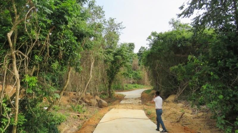 Một số công trình thuộc Dự án Khu cứu hộ động, thực vật và mở rộng Vườn thực vật đang được xây dựng