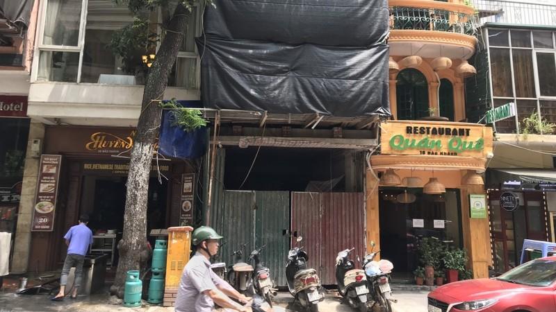 Công trình xây dựng tại số 18 – Bảo Khánh vi phạm trật tự xây dựng nhưng không bị xử lý