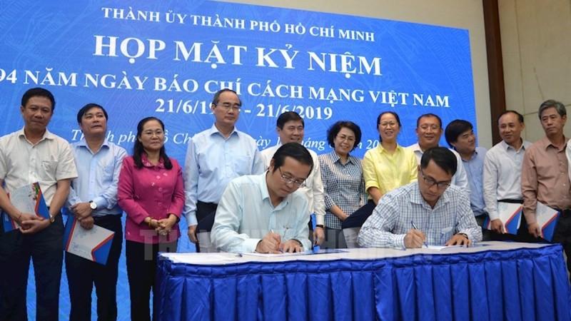 Ban Tuyên giáo Thành ủy Thành phố Hồ Chí Minh đã ký kết chương trình phối hợp công tác truyền thông năm 2019 với các cơ quan báo chí