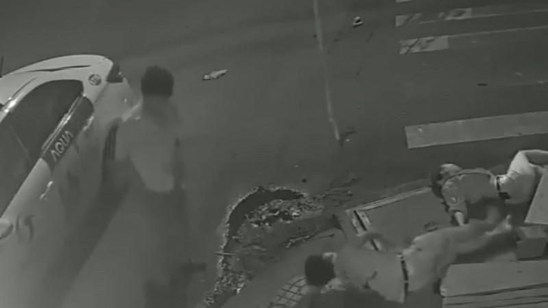 Hiện trường vụ tai nạn (Hình cắt từ clip)