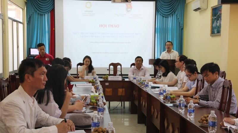 Đoàn thanh niên Bộ Tư pháp tổ chức Hội thảo khởi nghiệp ở TP HCM