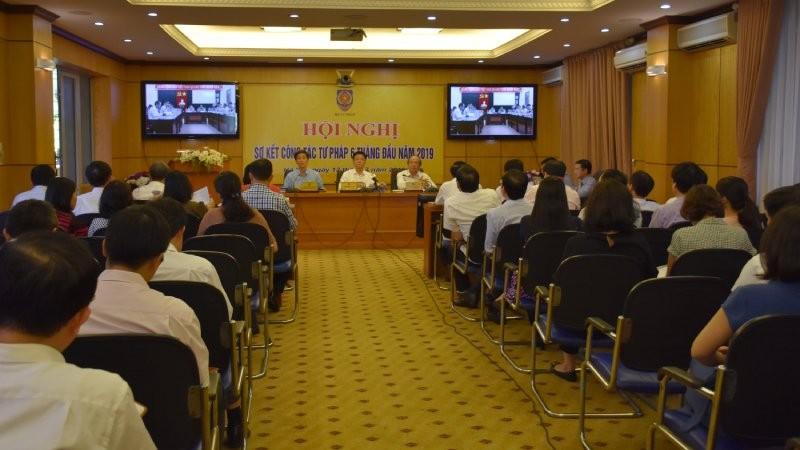 Toàn cảnh Hội nghị sơ kết công tác tư pháp 6 tháng đầu năm 2019