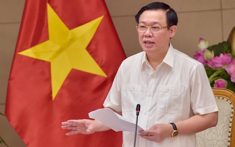 Phó Thủ tướng Vương Đình Huệ phát biểu tại cuộc họp - Ảnh: VGP/Nhật Bắc