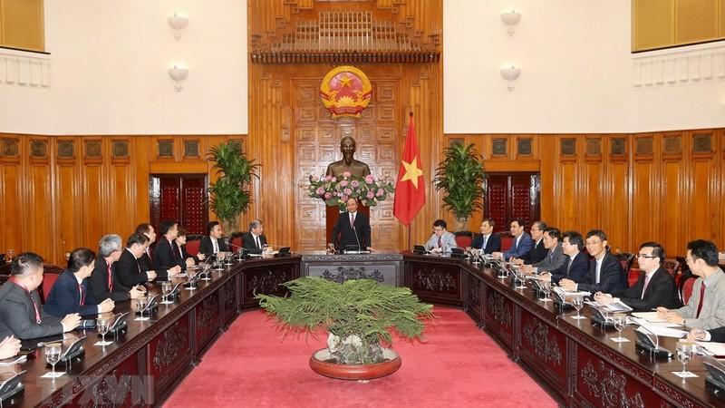 Thủ tướng Nguyễn Xuân Phúc tiếp đoàn doanh nghiệp Singapore