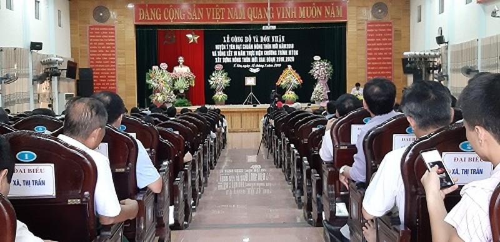 Toàn ảnh Lễ Công bố và công nhận huyện Ý Yên đạt chuẩn Nông thôn mới