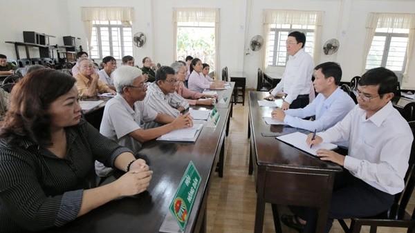 Tổng Giám đốc Dương Quyết Thắng tham dự buổi họp giao ban giữa NHCSXH với chính quyền, các hội, đoàn thể xã Trí Bình, huyện Châu Thành, tỉnh Tây Ninh