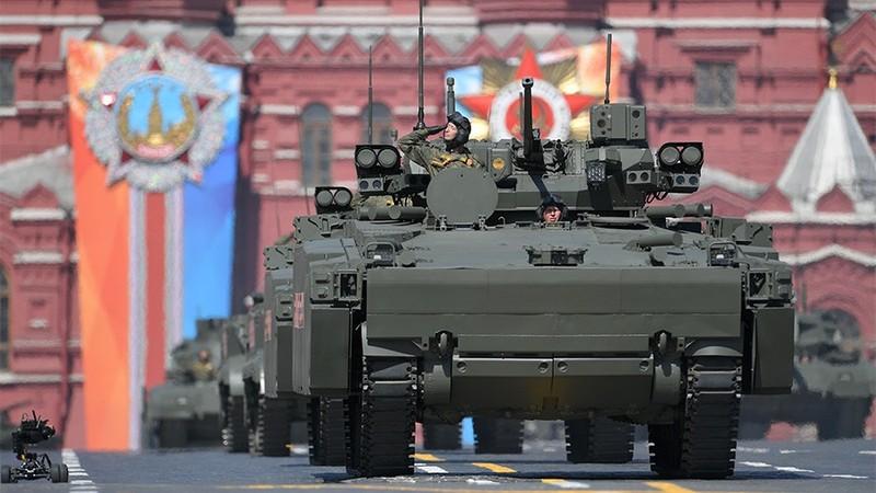 Khí tài của Nga tại lễ diễu binh mừng Ngày Chiến thắng hồi tháng 5 vừa qua
