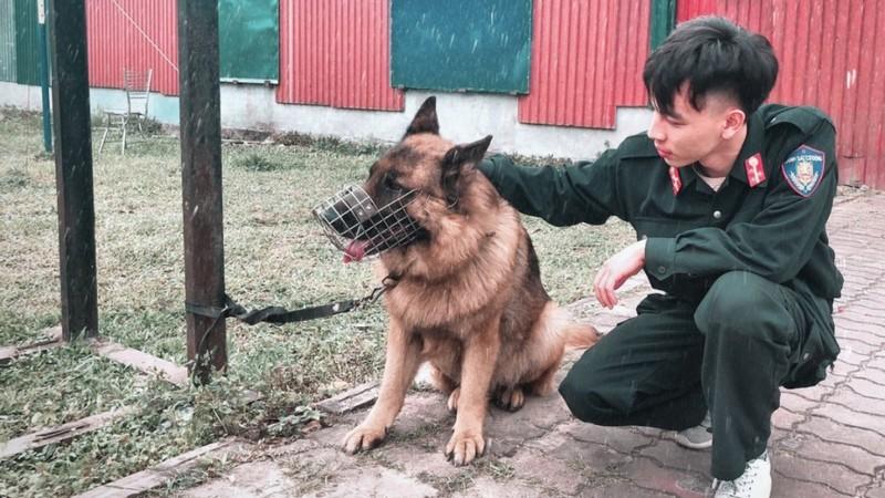 Chiến sỹ Đỗ Triệu Anh trong thời gian công tác tại đơn vị (Ảnh gia đình cung cấp)