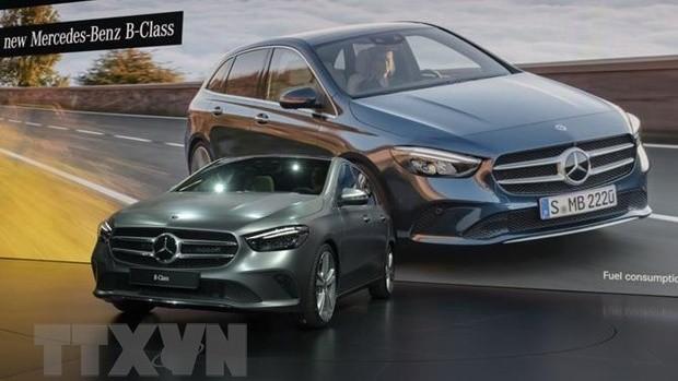Xe Mercedes-Benz B mới được giới thiệu trong cuộc họp báo tại Triển lãm xe ôtô Paris 2018 ở Paris của Pháp. (Ảnh: AFP/TTXVN)