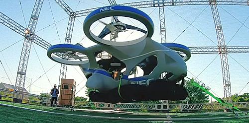 Thử nghiệm xe bay chạy điện của NEC.