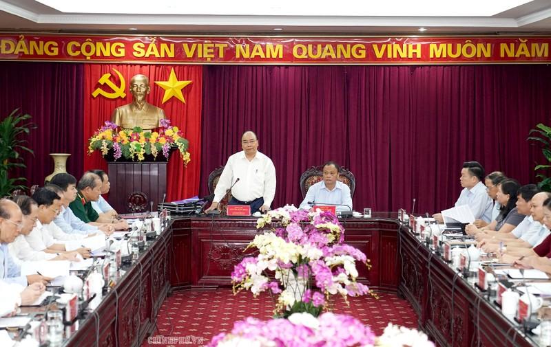 Thủ tướng phát biểu tại buổi làm việc với tỉnh Bắc Kạn. Ảnh VGP/Quang Hiếu
