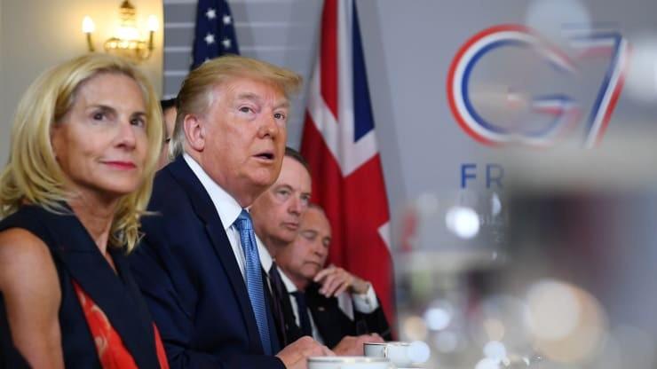Tổng thống Mỹ tại cuộc gặp song phương Thủ tướng Anh