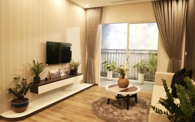 Không gian mở trong lành tại căn hộ Anland Premium