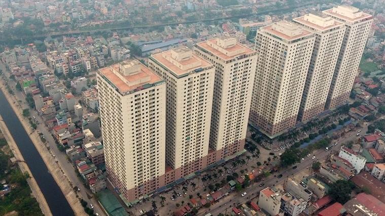 Khu đô thị Đại Thanh (huyện Thanh Trì, Hà Nội) tập trung tới 6 tòa chung cư với khoảng trên 4.000 căn hộ
