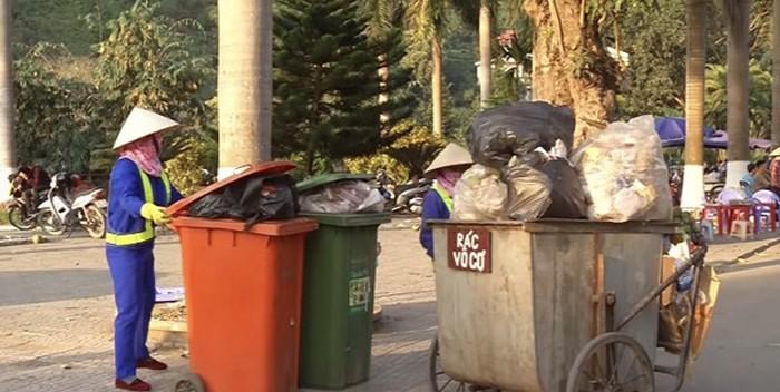 Tỷ lệ phân rác tại nguồn của thành phố Lào Cai đạt 96,8% (Ảnh. Báo Lào Cai)