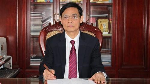 Ông Hoàng Văn Toản - Bí thư Huyện ủy Thiệu Hóa phủ nhận việc nhận tiền chạy chức. (Hình: thieuhoa.gov.vn)