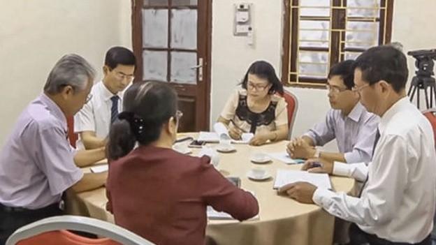 Một buổi hòa giải cho các đương sự tại Trung tâm hòa giải đối thoại TAND TP Hải Phòng