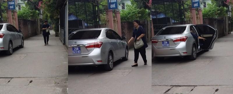 Chiếc xe BKS 29A – 023.80 thường xuyên đưa đón bà Nguyễn Thị Thu Hà từ nhà riêng tới nơi làm việc